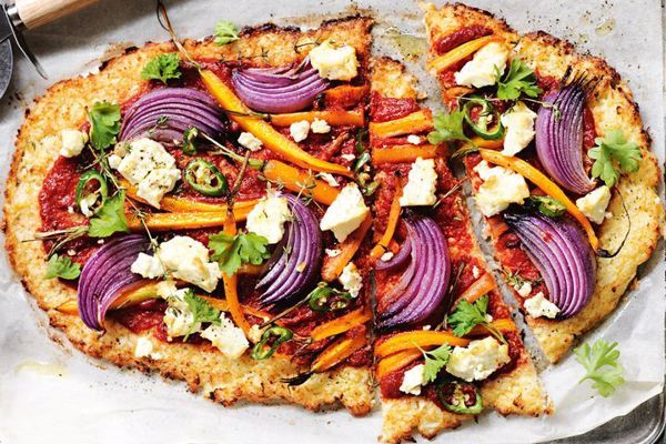 Carrot and Fetta Cauliflower Pizza