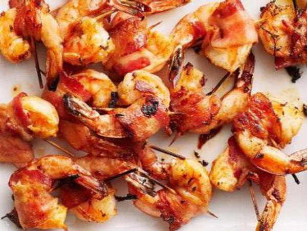 Bacon Wrapped Prawns